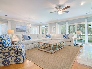 Great Seabrook Island Home - Modern & Updated - Pet Friendly - Club Access Free