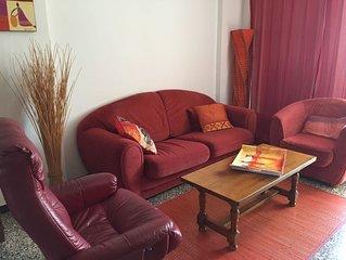Ajaccio, F3 meublé 70m2  dans residence très calme, parking assuré