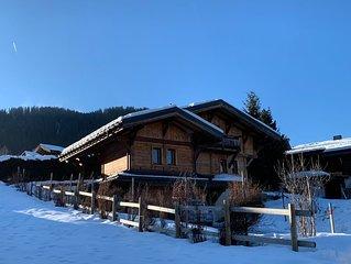 Chalet Megeve Rochebrune - 3ch.  6 personnes 140 m2 - 100m Pistes et 500m centre