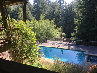 Sun Drenched pool, Private, Peaceful homeNestled at the Base of Mt. Tam