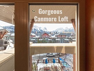Canmore Penthouse Loft / yr Round Salt Water Heated Outdoor Pool