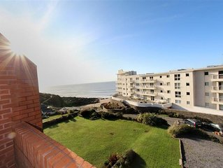 A stylish coastal apartment in a great location, overlooking the beach at Rother