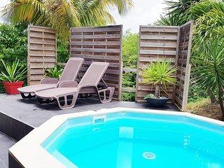 REZ DE JARDIN 2/3 PERSONNES AVEC PISCINE PRIVATIVE - situé à 1k5m des plages