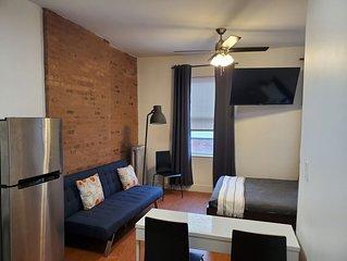 Enjoy our cozy, clean, spacious renovated studio.  Easy Access to the metro.