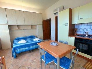 Villa Emilia - monolocale con balcone su giardino con pineta. Studio apartment