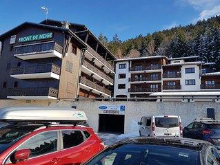 Aux Carroz d'Araches Grand studio cabine (4à6) sur les pistes (265kms)