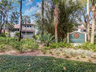 Elegantly Updated Two Story Condo With Serene Marsh Views- Located in AIP!!!!