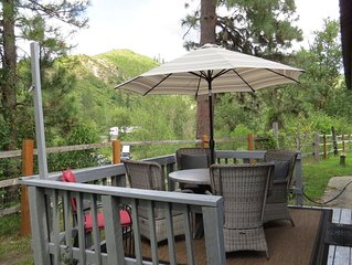 Ranchito in Leavenworth with River Beach Access just a 5 minute drive away.