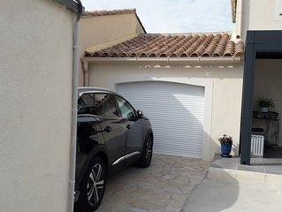 Villa 120 m2 avec piscine privée à 10 mn de la mer - climatisée -  wifi - 6 P