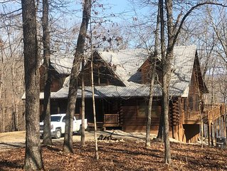 Spectacular Log Home...12 Acres on Private Cove, Lakefront