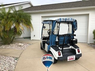 KING MASTER GOLF CART FOR YOUR PLEASURE 2/2 NEAR DINING AND MORE