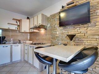 Appartement nur 500 Meter bis zum Sandstrand mit Küche, Klima, Terrasse mit Gril