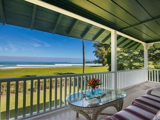 BEACHFRONT Historical Hanalei Bay Home Non-Commissionable