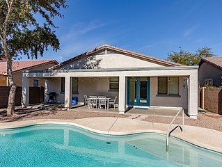 *SANITIZED* *Retreat at SanTan! Private 4BR Home w/ Heated Pool, Ping Pong Table
