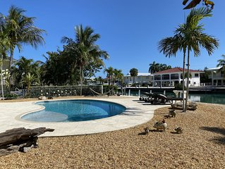 Duck Key Canal Waterfront w/ Large Boat Dock and Pool