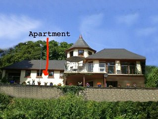 Pretty 1 Bedroom apt. attached to a modern Villa overlooking marina and estuary.