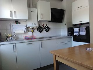 Appartment 75 m2 mit zwei Schlafzimmern und Wohnküche