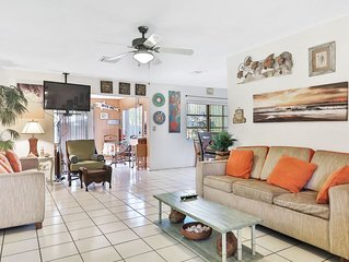 Classic home w/ a private pool, firepit, & enclosed yard - close to the beach!