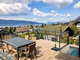 Superbe villa vue Lac panoramique - Piscine chauffee