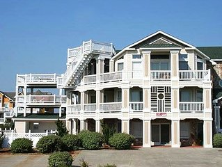 #481: Partial OCEANVIEW in Corolla w/HtdPool, HotTub, Elev, RecRm & Thtre
