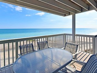 Oceanfront condo with covered deck, elevator and Indoor and Outdoor pools!