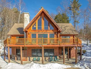 New listing - Beautiful Spacious Custom Log Cabin.