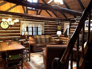 Bushkill Waterfront Log Cabin