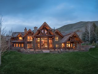 Fairway Road Lodge-Style Log Home