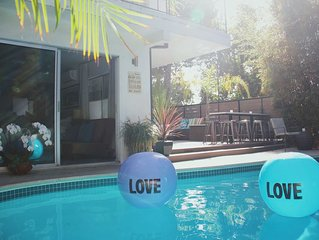 Luxurious Hollywood Oasis w/ Pool & Spa-Double Guest Quarters - Walk to the Blvd