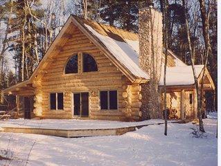 Rustic Luxury in a Modern Full Log Home