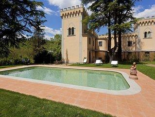 Apt Edera in villa nel Chianti, 2 camere,  2 bagni, terrazze, piscina e giardino