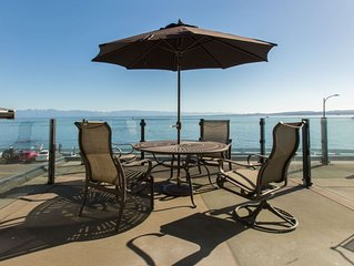 Luxurious Ocean Front Home in Victoria`s James Bay, Olympic Mtn Views