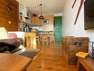 Belle Plagne, La Plagne, appartement très confortable de 50 m2, bien équipé pied