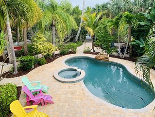 Beach, Private Fishing dock, Heated Pool, Tropical Paradise