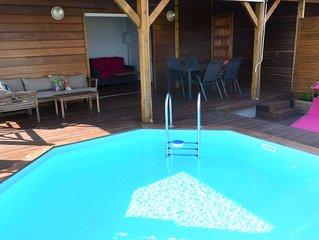 Bungalow vue mer/piscine privative/Ste Anne-Marin