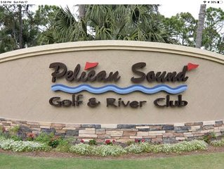 Beautiful condo with golf course view located in SW Florida gated community.