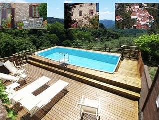 Charming house originally from 17th century with pool near Lucca.