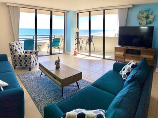 BEACHFRONT SPACIOUS CONDO NEAR THE PIER. 2/2BD. WRAP AROUND BALCONY.  1460 SQ FT