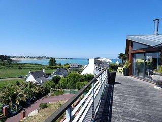 Appartement terrasse VUE MER PANORAMIQUE 8 personnes à 300m des plages
