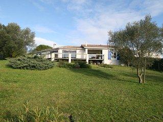 Chambres d'hôtes au vert vue sur la Gironde