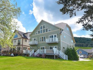 Lakefront Home in Ski Area w/Private Dock, Hot Tub, & 2 Fireplaces!