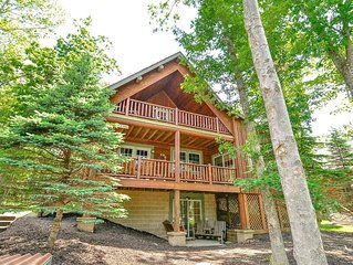 Lake Area Cabin w/Indoor Hot Tub, Foosball Table, & Summer State Park Access!