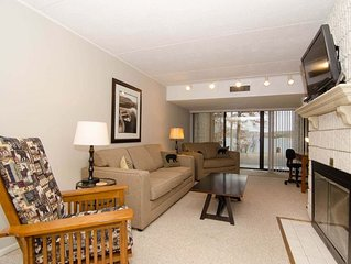 104B- lakefront condominium, one bedroom, two fireplaces & flat screen TV!