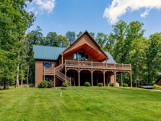 Split Lakefront Home w/Dock Slip, Fire Pit, & Hot Tub!