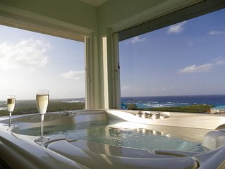 Villa with panoramic view of Middle Caicos and only 230 yds from stunning beach.
