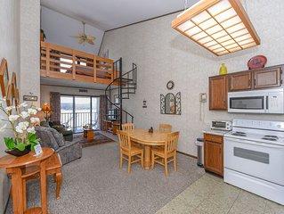 708H- Studio lakefront condo w/ private balcony & free wifi!
