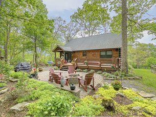 Wooded Lake Access Cabin w/Hot Tub, Pool Table, Fire Pit, & Wood Fireplace!
