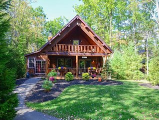 Cozy Cabin w/Indoor Hot Tub, 2 Wood Fireplaces, Foosball Table, & Central A/C!