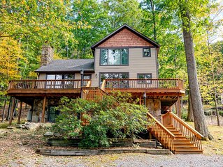 Split Lakefront Home w/Private Dock, Hot Tub, & Fire Pit!