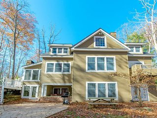 DOGS WELCOME! Lakefront Home w/Dock Slip, Hot Tub, Fire Pit, & Sun Room!